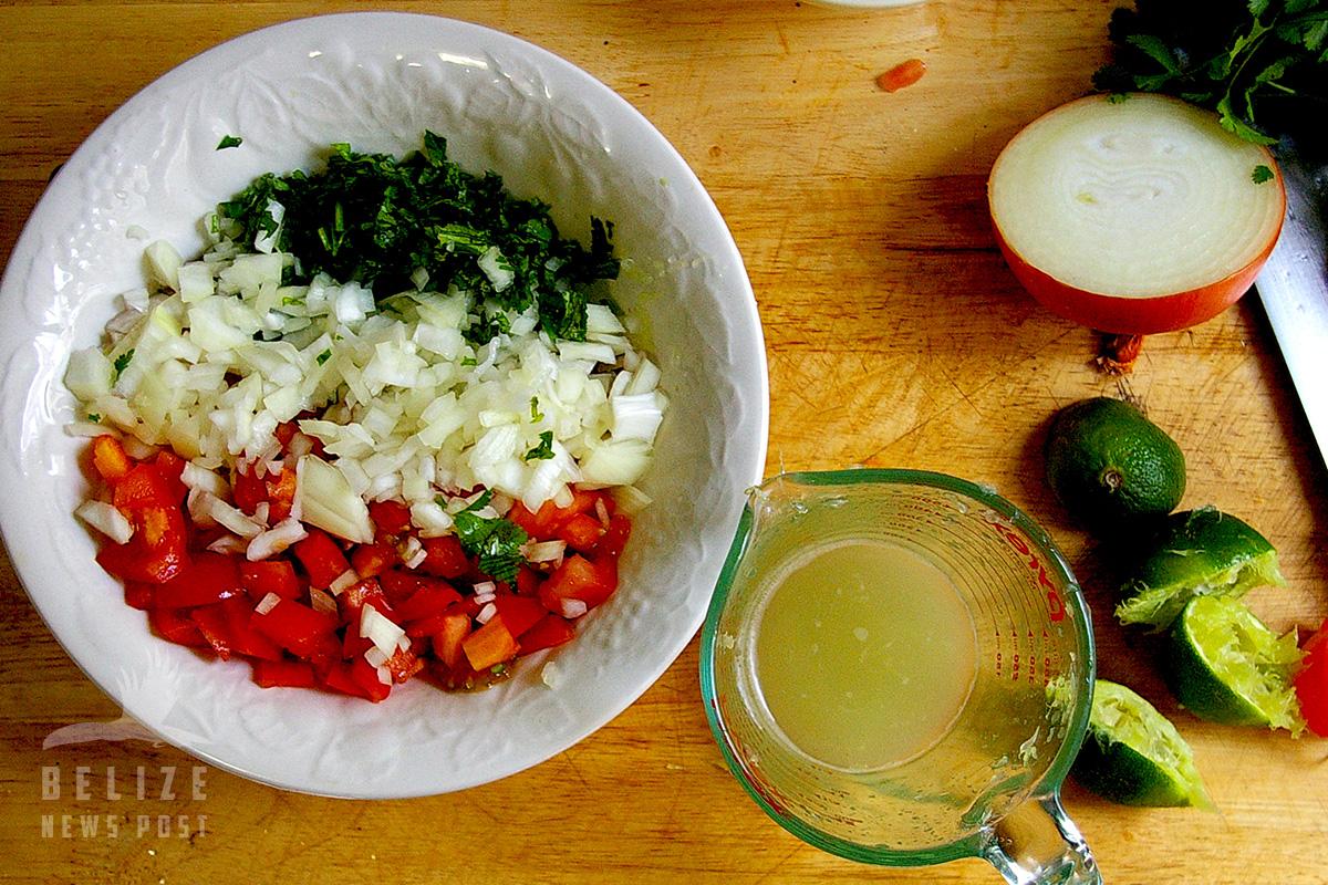 Shrimp Ceviche Ingredients